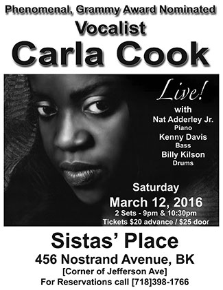 Carla Cook at Sistas' Place