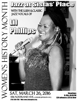 Lil Phillips at Sistas' Place