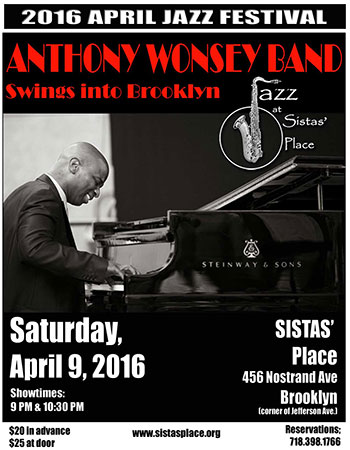 Anthony Wonsey Performs at Sistas' Place!