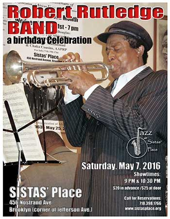 Robert Rutledge Band Performs at Sistas' Place