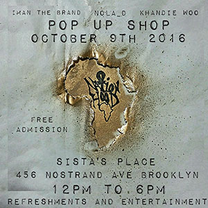 Pop Up Shop at Sistas' Place: Oct. 9, 2016, 12pm to 6pm