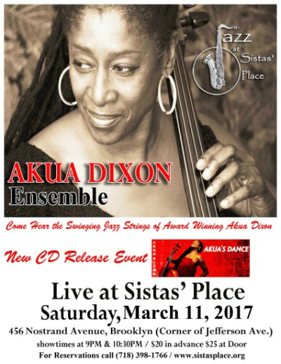 Akua Dixon Live at Sistas' Place!