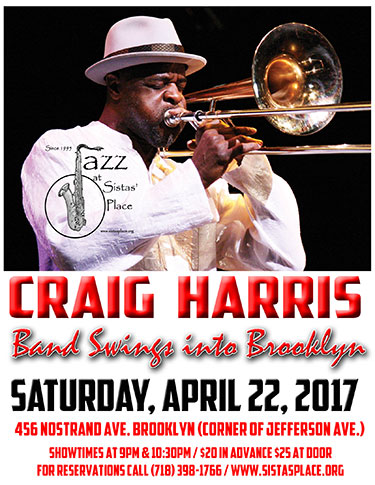 Craig Harris Band Swings Into Brooklyn!