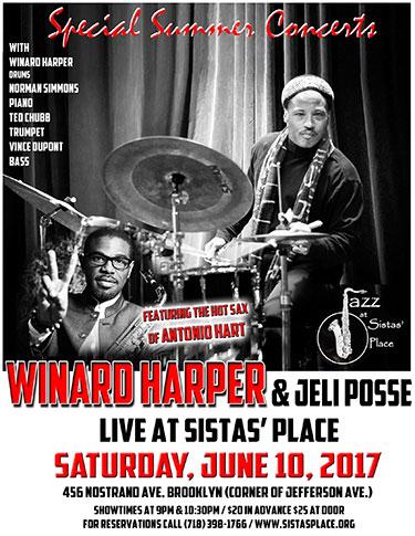 Winard Harper & Jeli Posse Featuring Antonio Hart at Sistas' Place!