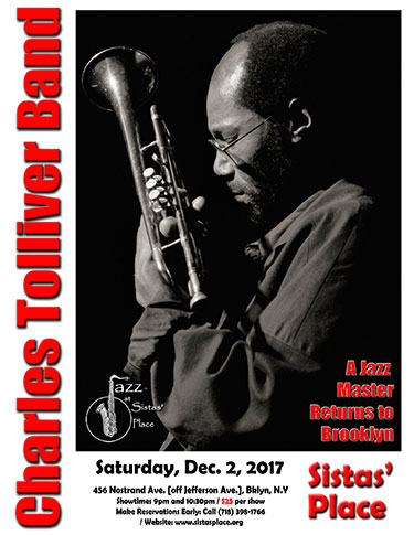 Charles Tolliver plays at Sistas' Place on December 2, 2017