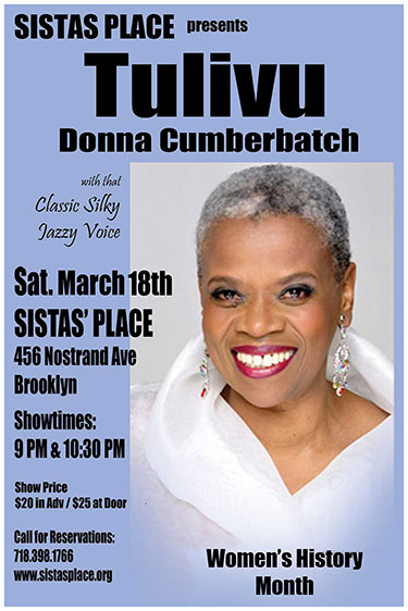 Donna Cumberbatch at Sistas' Place
