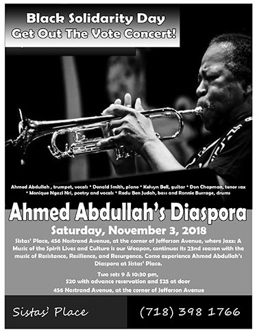 Ahmed Abdullah's Diaspora at Sistas' Place