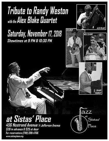 Alex Blake Quartet's Tribute to Randy Weston
